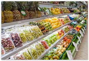 Фруктовый отдел в супермаркете