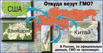 Завоз ГМО продуктов в Россию