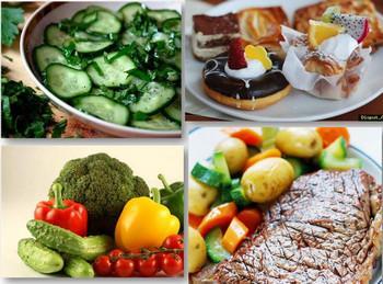 Калорийная и низкокалорийная еда