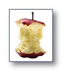 Фитонциды в центре яблока