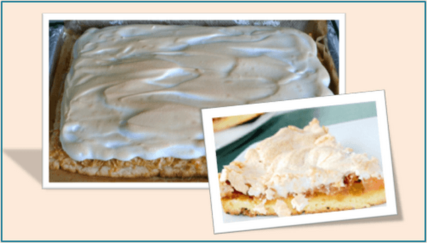 Пирог с яблоками, песочным тестом и безе