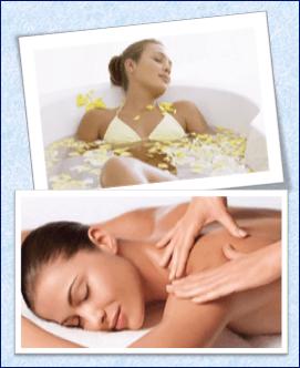 Ванны, массаж с маслом лимона