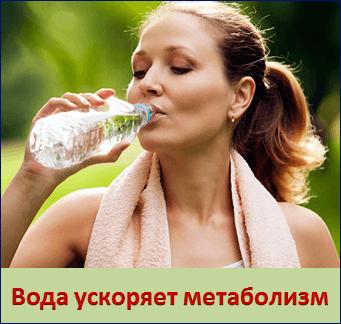 Вода ускоряет метаболизм