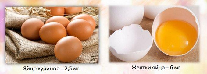 Железо в куриных яйцах