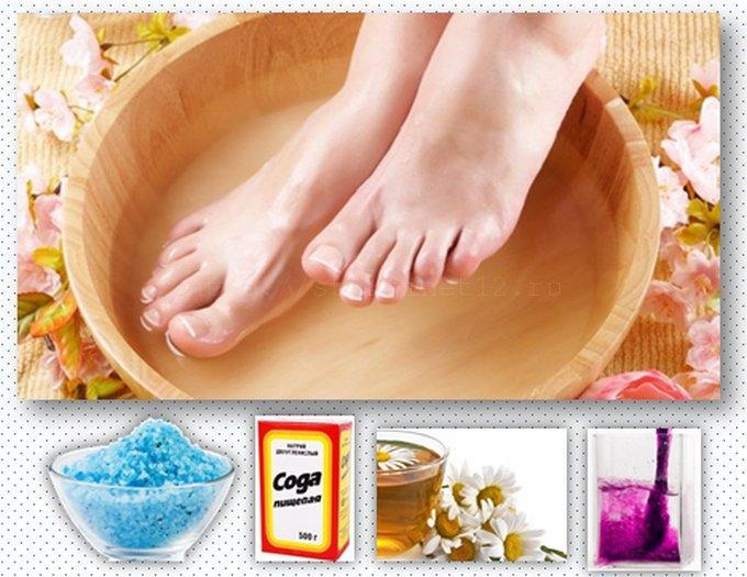 Ванны для ног при лечении вросшего ногтя