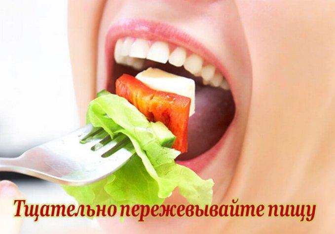 Хорошо пережевывайте пищу