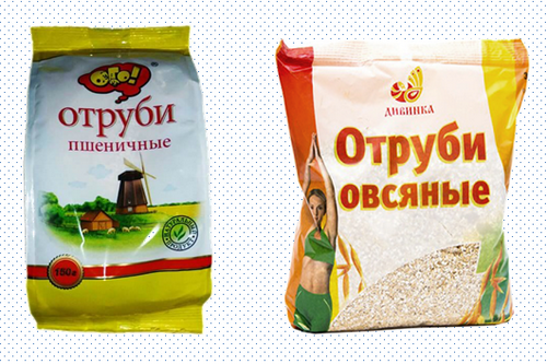 Отруби овсяные и пшеничные