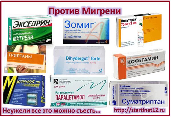 Мигрень - лекарства