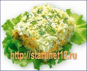 Вкусный рецепт салата Мимоза