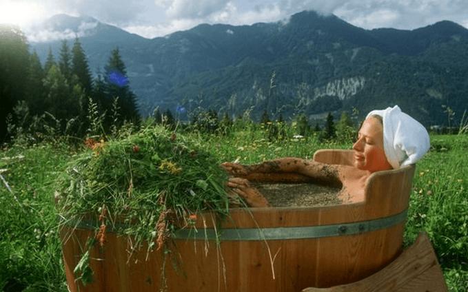 Травяные ванны при остеохондрозе