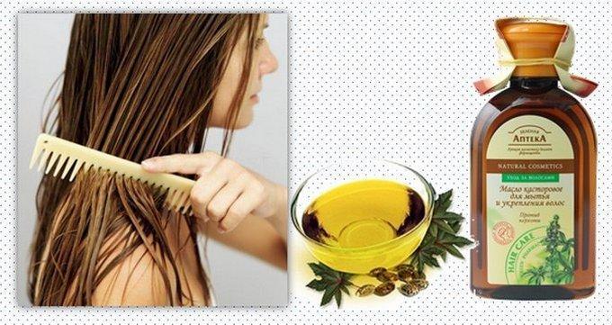 Маска с касторовым маслом для волос от седины