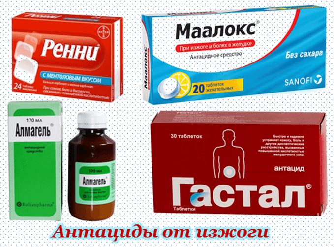 Антациды - лекарства от изжоги