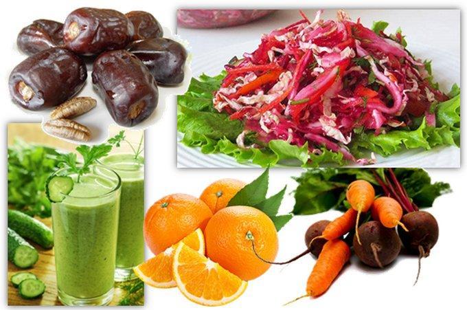 Овощи и фрукты для желчного пузыря