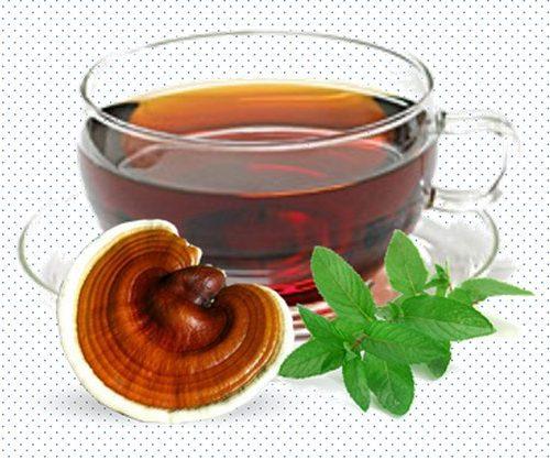 Чай с грибом рейши для иммунитета