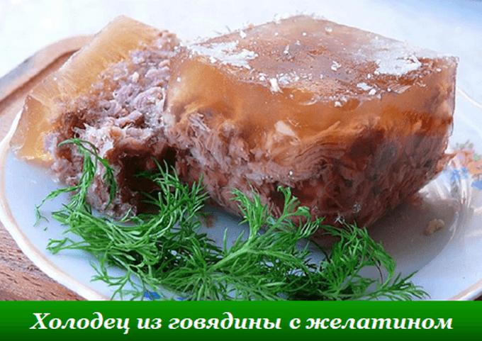 Холодец из говядины с желатином