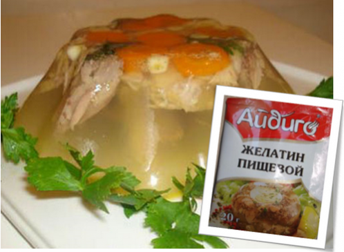 Что можно сделать из желатина. Рецепты заливных блюд