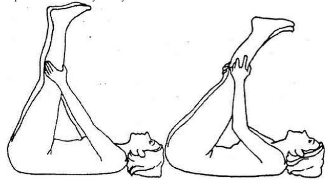 Растяжка подколенных сухожилий