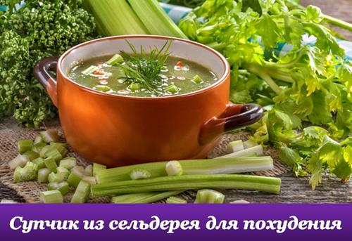 Суп из сельдерея для похудения. Рецепты