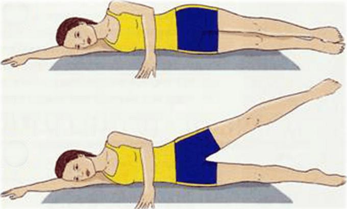 Упражнения на боку