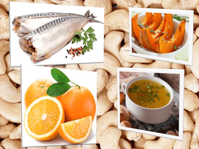 Для иммунитета: куриный бульон, рыба, апельсины, тыква