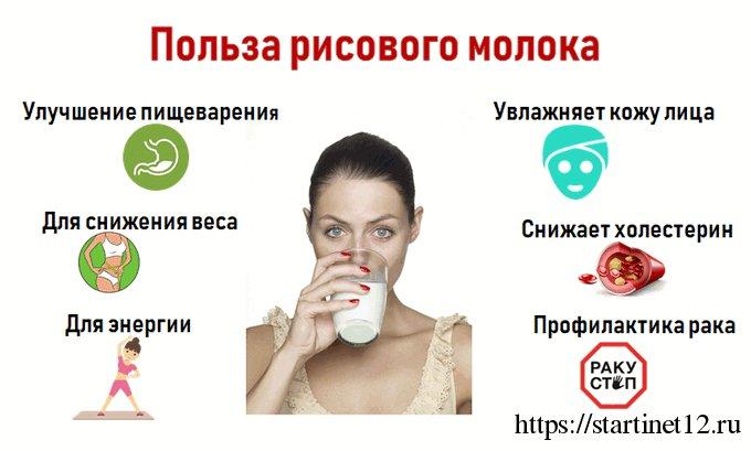 Польза рисового молока для здоровья